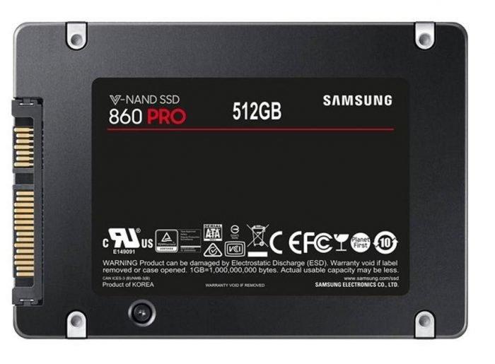 هارد اس اس دی سرور سامسونگ مدل PRO 860 ظرفیت 512GB